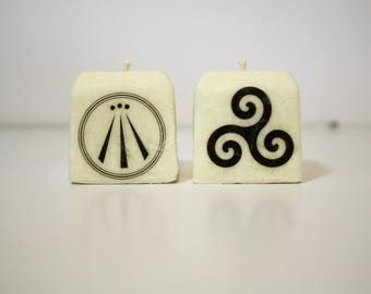 Druid Candle Set | Celtic Candles| Meditation, Ritual, Devotional Candles