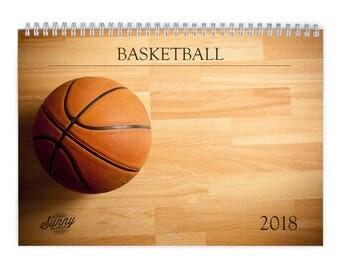 Basketball 2018 Wall Calendar