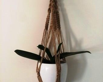 Cute hemp macrame hanger