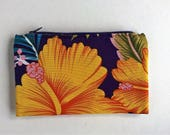 Tropical print clutch, purse
