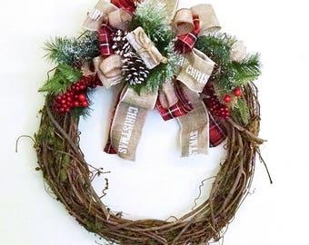 Handmade holiday wreath