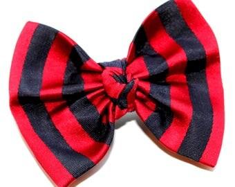 Silk hair clip, hair clip with bow, pure silk