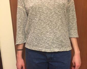 Sweater / Retro / Reversible / Minimal / American Apparel / Small/Medium
