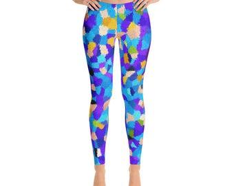 Multi Color Leggings - Womens Leggings - Yoga Leggings - Workout Leggings - Pattern Leggings - Printed Leggings