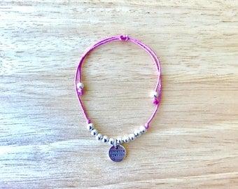 Someone Special Charm Hemp Bracelet
