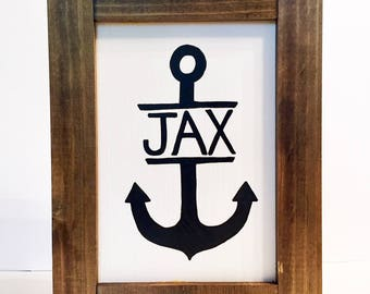 Personalized Anchor Name Sign