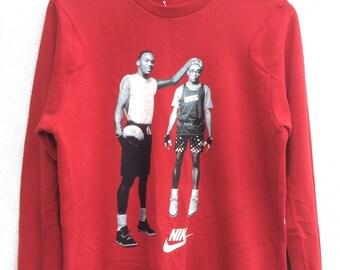 Nike Air Jordan Spike Lee Best on Earth and Mars Pullover Sweatshirt Medium Size