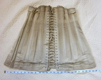 True Vintage Antique R & G Corset, Early American, Connecticut / Lace, Edwardian Costume, Steampunk, Victorian, New England CT