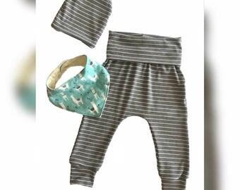 Baby boy outfit/ Baby boy pants set/ Baby shower gift/ Baby Boy birthday gift/ Baby harem pants/ Baby boy Gray pants/Baby boy
