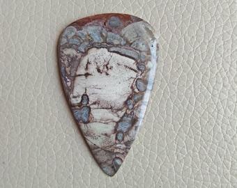 Mushroom Rhyolite Stone Size 58x37x6 MM Approx, Top Quality Gemstone Weight 55 Carat, Jewellery Making Pendant Gemstone, Gemstone Supplies.
