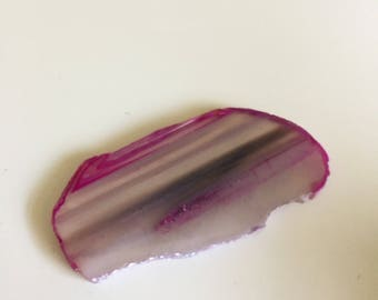 Pink Agate Slice Size 0