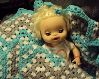 Boy or Girl Ripple Waves Crochet Afghan