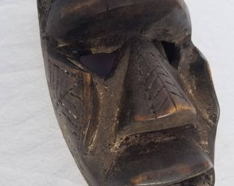 TRIBAL EXOTICS : PREMIUM Authentic fine tribal African Art - Dan Gio Kagle Kran Wood Mask Figure Sculpture Statue
