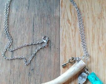 Pennsylvania whitetail tine necklace