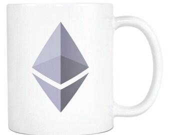 Ethereum ETH Cryptocurrency Logo Coffee Mug