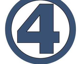 Fantastic Four Symbol - Digital Print