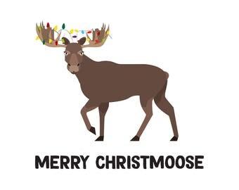 Merry Christmoose Digital Download