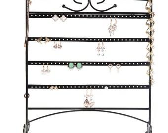 HUJI Black Jewelry Organizer Rack
