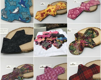 """Custom SOLIDS cloth pad 5.75"""" to 16"""" with Zorb core and waterproof backing"""