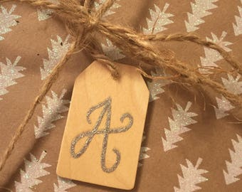 Wooden Embossed Christmas Tags