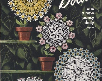 Vintage Star Book 64, Flower Doilies to Crochet, Including Pansy Doily and Placemats