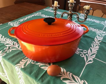Heirloom Le Creuset #31 Oval, Classic Flame, Excellent Vintage Condition.