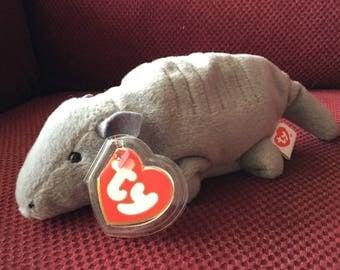 TY Beanie Babie Tank No Shell New Super Rrare PVC 1st Edition 3RD GenTags Errors