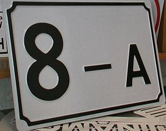 custom house numbers photo on enamel house number plaque  enamel sign porcelain buy house numbers home address numbers decorative numbers