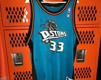Vtg 1996 Grant Hill Detroit Pistons Champion Jersey