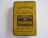 Three Castles cigarette tin. (empty)
