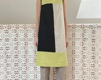 vintage patchwork tunic oversized cotton linen