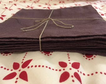 Set of 10 handmade linen napkins