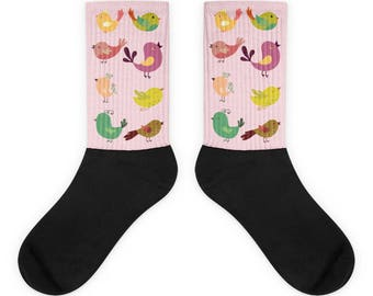 Cute Birds Colorful Graphics Socks