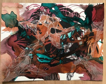 Copper Infuse - Original India Ink Painting