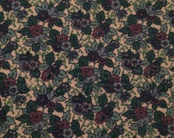Liberty vintage Jubilee fabric in green and purple floral print