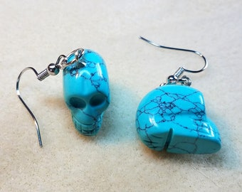 Beautiful Carved Skulls made from Turquoise