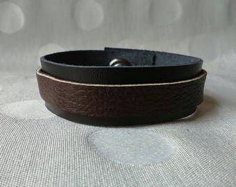 Man/woman leather bracelet