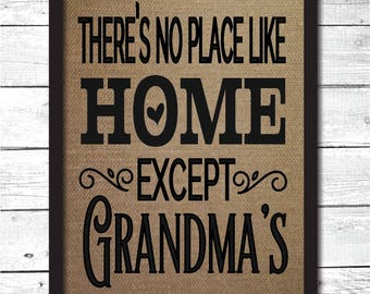no place like home print, grandmas house, grandmas house sign, grandparent gifts, grandma gift, gift for grandma, gift for grandmother, FM7