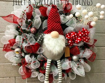 I'll be Gnome for Christmas Wreath