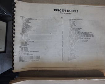1990 chevrolet electrical diagnosis and diagrams - S/T models- no cover
