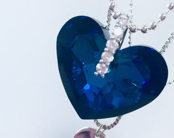 Swarovski heart shaped crystal necklace