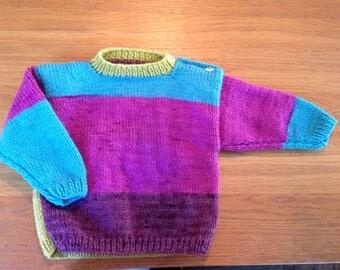 Purple pop toddler sweater