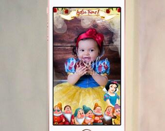 Snow white snapchat geofilter