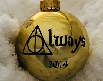 "Harry Potter ""Always"" Ornament with personalization options"