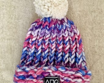 Cotton Candy Knitted Hat