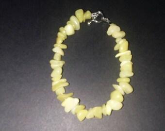 Lemon Jade bracelet.