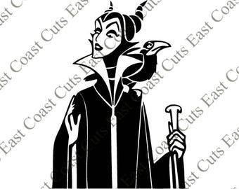Disney Maleficent Laptop Decal SVG/DXF/PDF