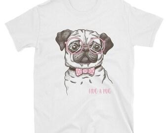 Hug a Pug - short sleeve unisex t-shirt