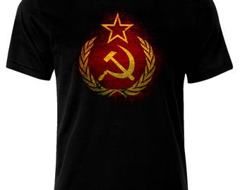 Grunge Flag Soviet Union USSR  Russia Russian Federation T-Shirt
