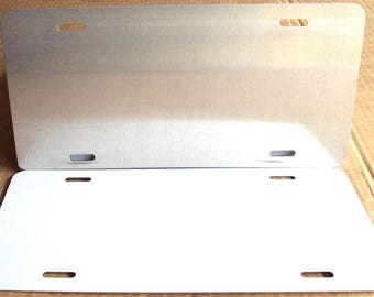 10 pcs..025 Gloss White / Clear,( No Mask ) Aluminum Sign Blanks/Tags Blanks